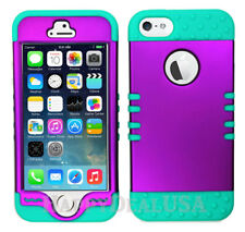 For Apple iPhone 5/5s/SE - KoolKase Hybrid 0Silicone Cover Case - Purple (R)
