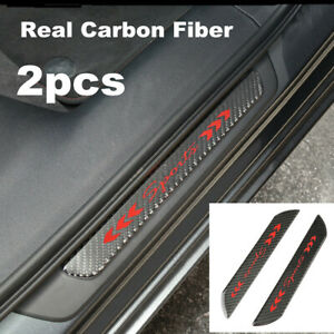 2pc Universal Car Door Scuff Sill Trim Cover Plates Panel Step Protector Sticker