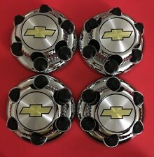 "4pcs. Chrome Chevy Silverado 1500 Tahoe 6 Lug Center Caps 16"" 17"" Steel Wheels"