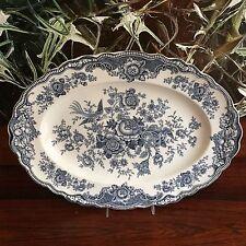 Crown Ducal England Bristol in blu/grigio-PIASTRA 36cm x 26,5cm