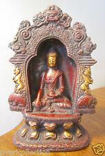 GIFT & DECOR MEDICINE BUDDHA METAL  INTRICATE DESIGNER BUDDHA STATUE SCULPTURE
