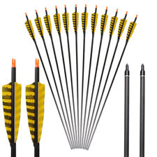 """32"""" Archery Hunting Pure Carbon Spine 400 Arrows for Compound Bow Recurve Bow"""