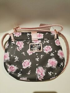 Disney LOUNGEFLY Minnie Mouse Pink Floral Saddle Bag Crossbody Purse