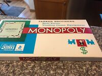 Vtg Monopoly Real Estate Trading Game Equipment Board Game Parker Brothers 1954