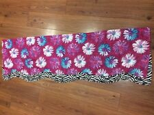 WAVERLY KIDS VALANCE PURPLE PINK TEAL FLORAL DAISIES ZEBRA ANIMAL PRINT ACCENT!!