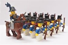 Napoleonic Wars Minifigure 20 x Blue Coat Soldier w General & Horse Custom Brand