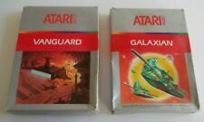 GALAXIAN / VANGUARD  ATARI 2600 VIDEO GAMES BUNDLE (TESTED AND WORKING)
