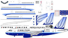United Airbus A-319 old colors Pointerdog7 decals for Revell 1/144 kits