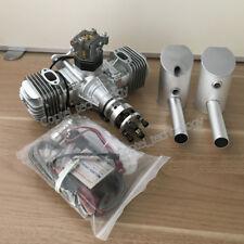 for RC Plane Twin Cylinder Gasoline Engine Motor w/ Igniter & Muffler DLE60 60CC