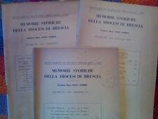 MEMORIE STORICHE DELLA DIOCESI DI BRESCIA - annata completa 1963  sotto i titoli