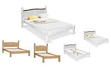 Massivholzbett Kiefernholz Weiß/Natur Single/Doppel Bett 90x200 140x200 180x200