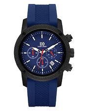 Danish Design IQ22Q1020 Blue Dial Stainless Steel Rubber Quartz Men's Watch