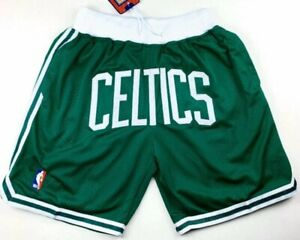 Boston Celtics Shorts Green White All Stitched