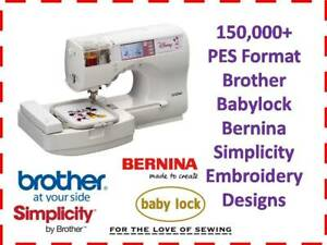 Brother PES Embroidery Machine Patterns 150k+ on USB Stick Drive Designs Files