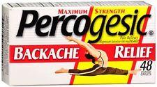 Percogesic Backache Relief Caplets 48 Caplets (Pack of 5)