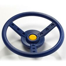 Swing Slide Climb PLAY CAR STEERING WHEEL+Fixings, Spins When Mounted, BLUE