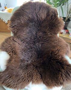 Fur Braun, Soft Sheepskin Eco fur Carpet Decoration Large Approx. 51 3/16x37
