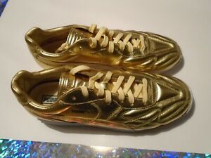 New Puma King Avanti Trophy Gold Men's Size 11 Leather Shoes 36661901 Soccer