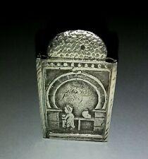 Scatola Porta Fiammiferi Argento Impero Ottomano