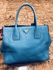 Limited Edition Prada Vitello Leather Turquoise  Satchel Crossbody Bag