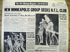 4 1959 newspapers WASHINGTON SENATORS baseball team becomes THE MINNESOTA TWINS