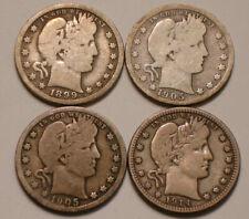 1899 O; 1905 O; 1905 S & 1914 P Barber Quarters