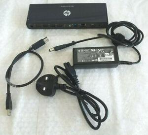 HP 3005PR USB 3.0 Universal Dock Dual Screen HDMI & DP with AC Adapter