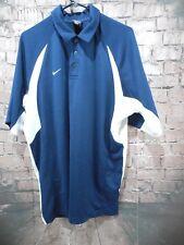 Nike Team Men's Blue Polo Blue White Large Dri-Fit