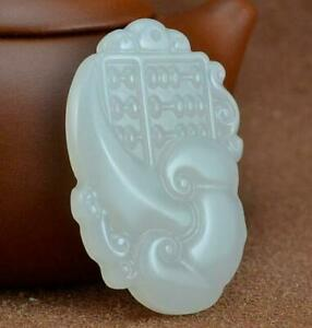 Natural jade Pendant Amulet jade Pendant 如意算盘 statue Abacus New Necklace
