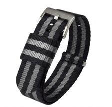 Jetson Military Style Watch Strap 18mm, 20mm, 22mm, 24mm, Seat Belt Nylon