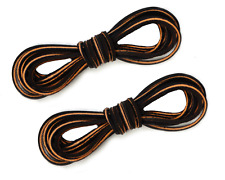"""2 PAIRS ~ 72"""" x 1/8"""" ~ Dark Brown ~ Logger Leather ALM Welders Work Boot Laces"""