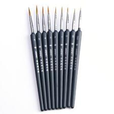 10Pcs Brush Pen For Sketched Lines Gouache Watercolor Paint Oil Painting.UK