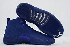 Nike Air Jordan XII 12 Retro 130690-400 Blue Suede Mens Shoes Size 10 New in Box