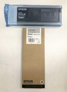 NIB Epson Light Black Ink T5447 Genuine 4000 9600 Expired Date: 07/2014