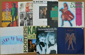 """Various 1980's 12"""" Lot x 9 Shooting Party, Cyndi Lauper, Lick The Tins, Hooters"""