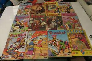 FRENCH COMIC BOOK DIGEST LOT OF 12 COMIC BOOK BUNDLE 1960s LANCELOT #1 IVANHOE *