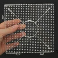 4/10X ABC Clear 145x145mm Square Large Pegboards Board for Hama Fuse Perler Bead