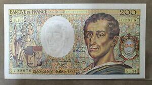 BILLET DE 200 FRANCS MONTESQUIEU / 1992 / NEUF / UNC / ALPHABET 134 / F.70.12c