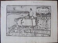 CARTE CALAIS . Par TASSIN. Carte originale de 1633.  Dimensions de la feuille: 1