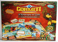 RARE GORMITI CONQUEST OF GORM BOARD GAME WITH 30 MINI FIGURES UNUSED INCOMPLETE
