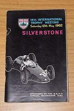 SILVERSTONE 14th brdc International Trophy riunione 1962 programma RACE