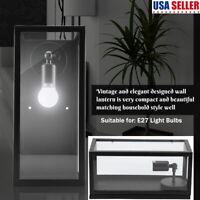 Retro Lantern Antique Vintage Rustic E27 Lamp Wall Sconce Light Fixture Outdoor