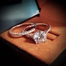 1.50ct Natural Round Thin Pave Diamond Engagement Bridal Set - GIA Certified