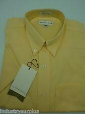 Cutter & Buck Men's Yellow Button Down Wrinkle Resistant SS Shirt Size Medium