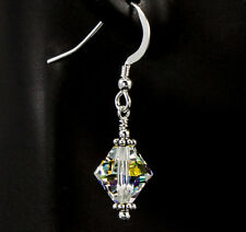 Crystal AB Dangle Earrings created with Swarovski Crystals Bali Sterling Silver