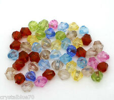 250 x 6mm Bicone Acrylic Spacer Beads Mixed Colours Buy 1 Get 1 Free BOGOF - 2F1