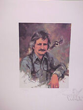 "LOWELL DAVIS ""SELF PORTRAIT "" WITH REMARQUE & NOTE TO FRIEND, S/N LTD EDT PRINT"