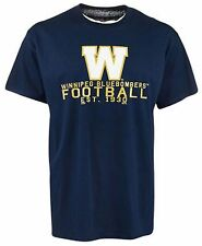 Men's Small Winnipeg BLUEBOMBERS CFL Football EST. 1930 T Shirt 100% Cotton Blue