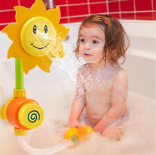 Funny Bath Toy Water Faucet Tap Spout Spray Shower Water Play Kid Baby Sunflower