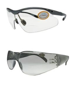 Bifocal Cycling Safety Sports Wrap Round Clear Glasses High Impact UV Protection
